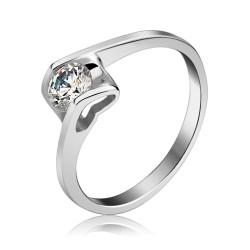 Toutencoeur® France l'anneau bague coeur cristal Swarovski® Zircon