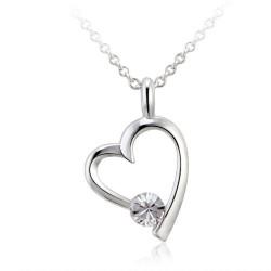 Toutencoeur® France Le collier Chaine et Coeur, cristal Zirconium