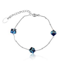 Toutencoeur® France Le bracelet Variation de couleurs Bleues cristal Swarovski®