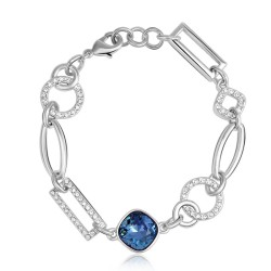 Toutencoeur® France Le bracelet Gourmette cristal Swarovski® et Zirconium