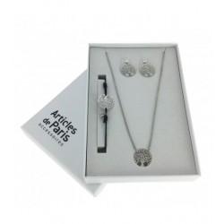 Coffret Cadeau - Avec jeu de bracelet, boucles d'oreilles et collier motif arbre de vie Articles de Paris