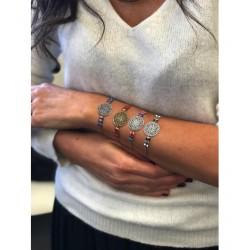 Bracelet - Rosace ajourée avec pampilles émaillées Articles de Paris