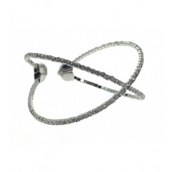 """Bracelet - Jonc style """"X """" avec strass Articles de Paris"""