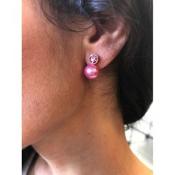 Boucles d'oreilles - Perles avec paillettes et strass Articles de Paris