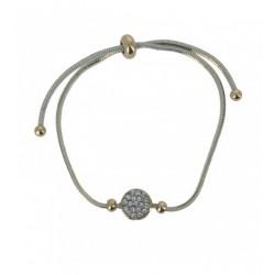 Bracelet - Lien serrage avec disque avec strass Articles de Paris