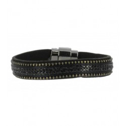 Bracelet - Plat tout strass Articles de Paris