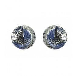 Boucles d'oreilles - Disques en métal striés Articles de Paris