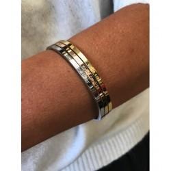 """Bracelet Acier - Jonc fin avec inscription """"Suivez votre coeur"""" Articles de Paris"""