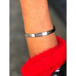 """Bracelet Acier - Clip large """"Suivre sa bonne étoile"""" Articles de Paris"""