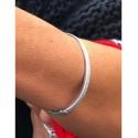 Bracelet Acier - Clip fin effet givré Articles de Paris