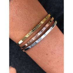 "Bracelet Acier - Jonc fin avec inscription ""Best friend forever"" Articles de Paris"