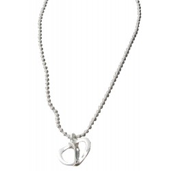 Collier Argent - Coeur spirale - Articles de Paris