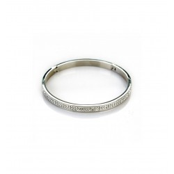 Bracelet acier fin rigide et strass