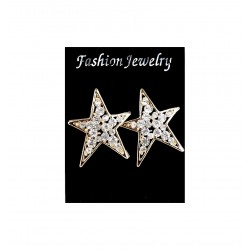 Boucles d'oreilles étoiles serties de strass