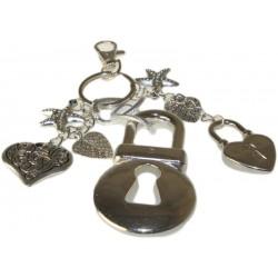 Bijou de sac à main coeurs cadenas et bijoux