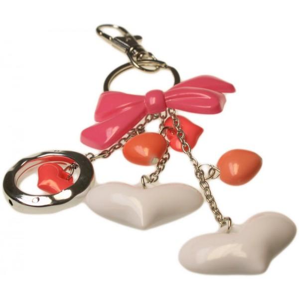 Bijou de sac à main coeurs et noeud rose