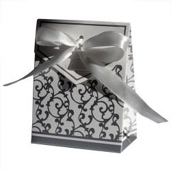 Boites cadeaux mariage pochette argentée