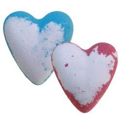 Coeur de bain effervescent artisanal Adam et Eve