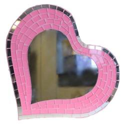 Message Mosaïque Grand coeur rose