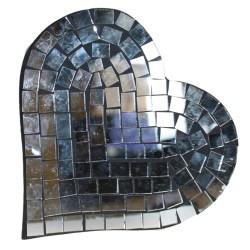 Message Mosaïque Coeur miroir