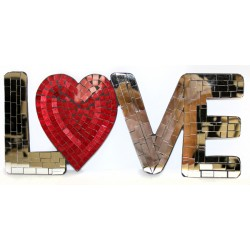 Message Mosaïque Coeur LOVE miroir