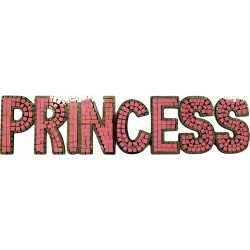 Message Mosaïque Princess rose