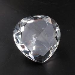 Coeur en verre biseauté diamant luxe