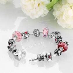 Toutencoeur® France Le bracelet charm reine, pierres naturelles
