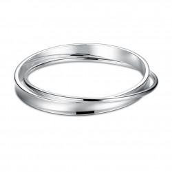 Toutencoeur® France Le bracelet jonc de coeur, cristaux zircon cubiques