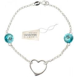 Toutencoeur® France Le bracelet Coeur cristal turquoise Swarovski®